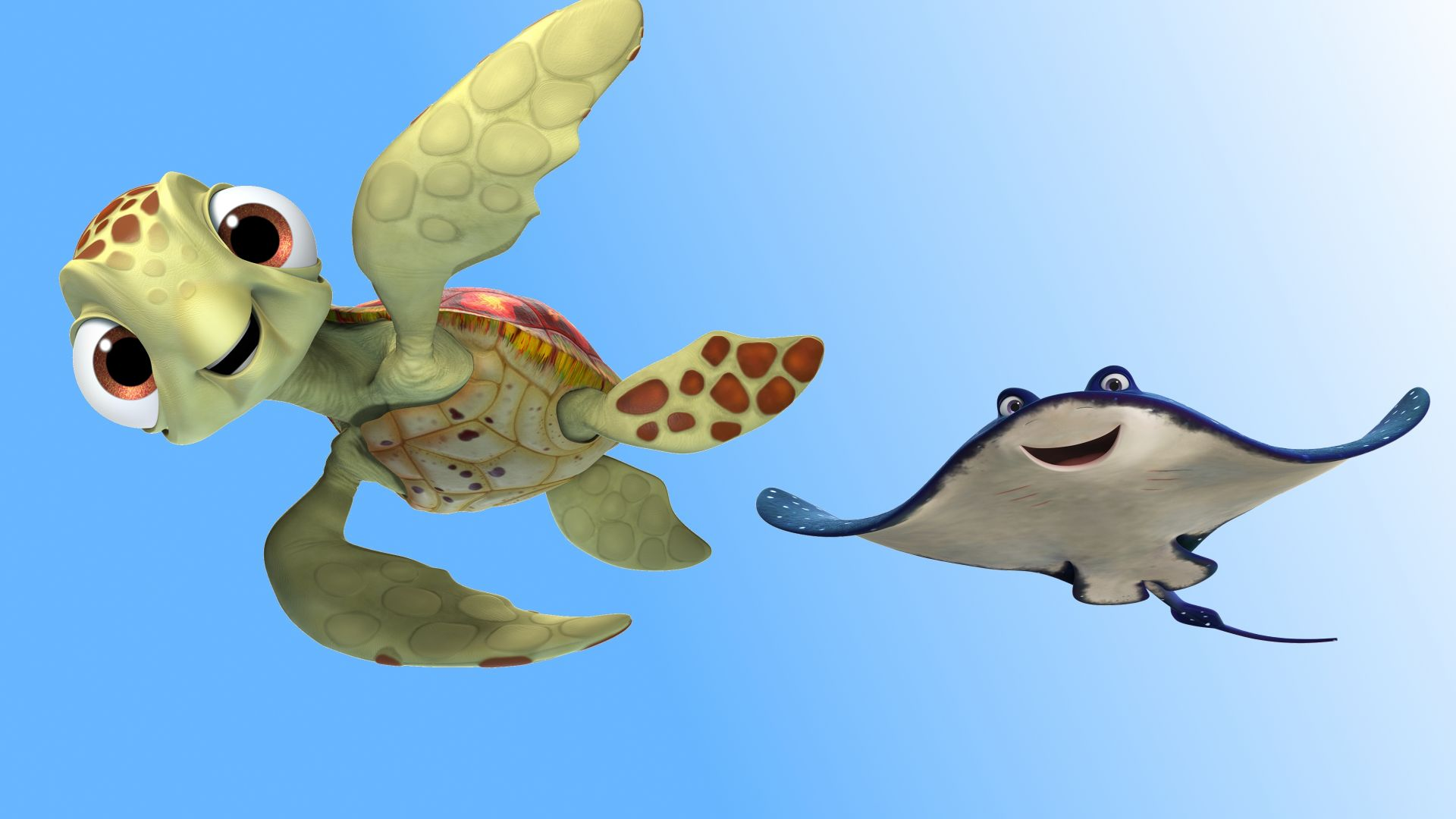 Wallpaper finding dory ramp turtle pixar animation for Dory fish movie