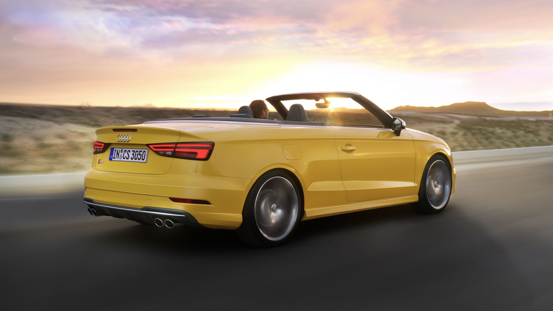 wallpaper audi s3 cabriolet yellow cars bikes 10263. Black Bedroom Furniture Sets. Home Design Ideas