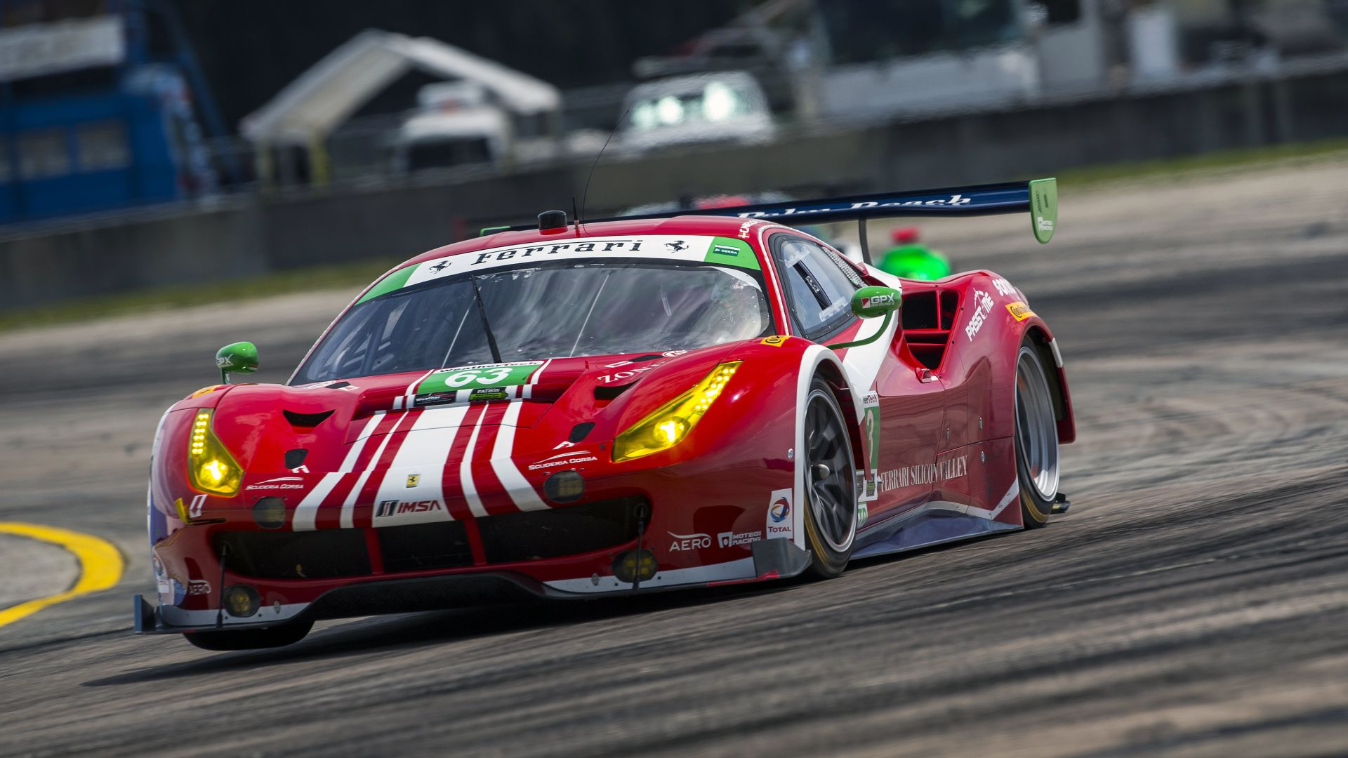 Wallpaper Ferrari 488 Gte Sport Cars Race Cars Red