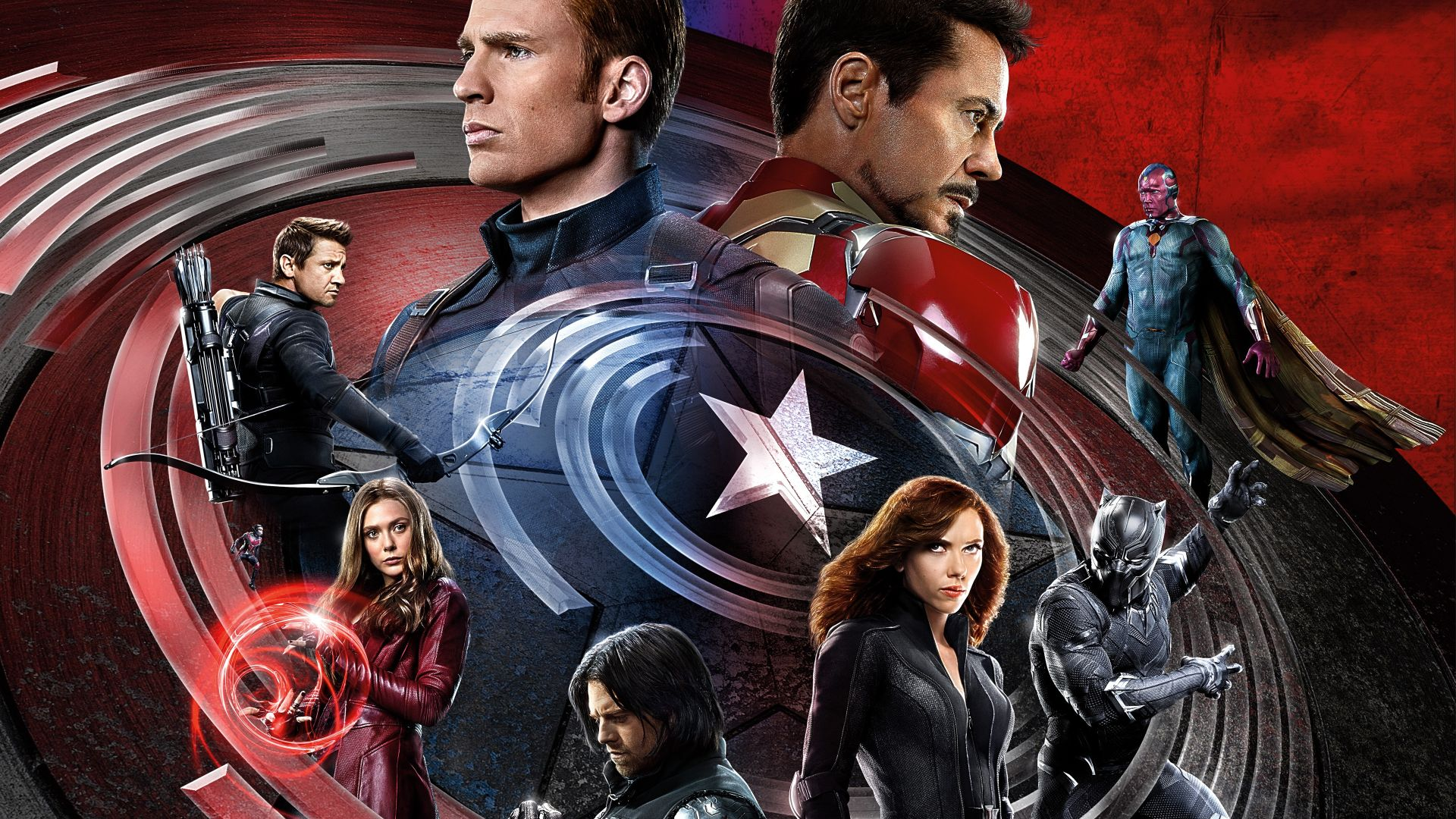Captain America 3: civil war, Iron Man, Marvel, best movies of 2016