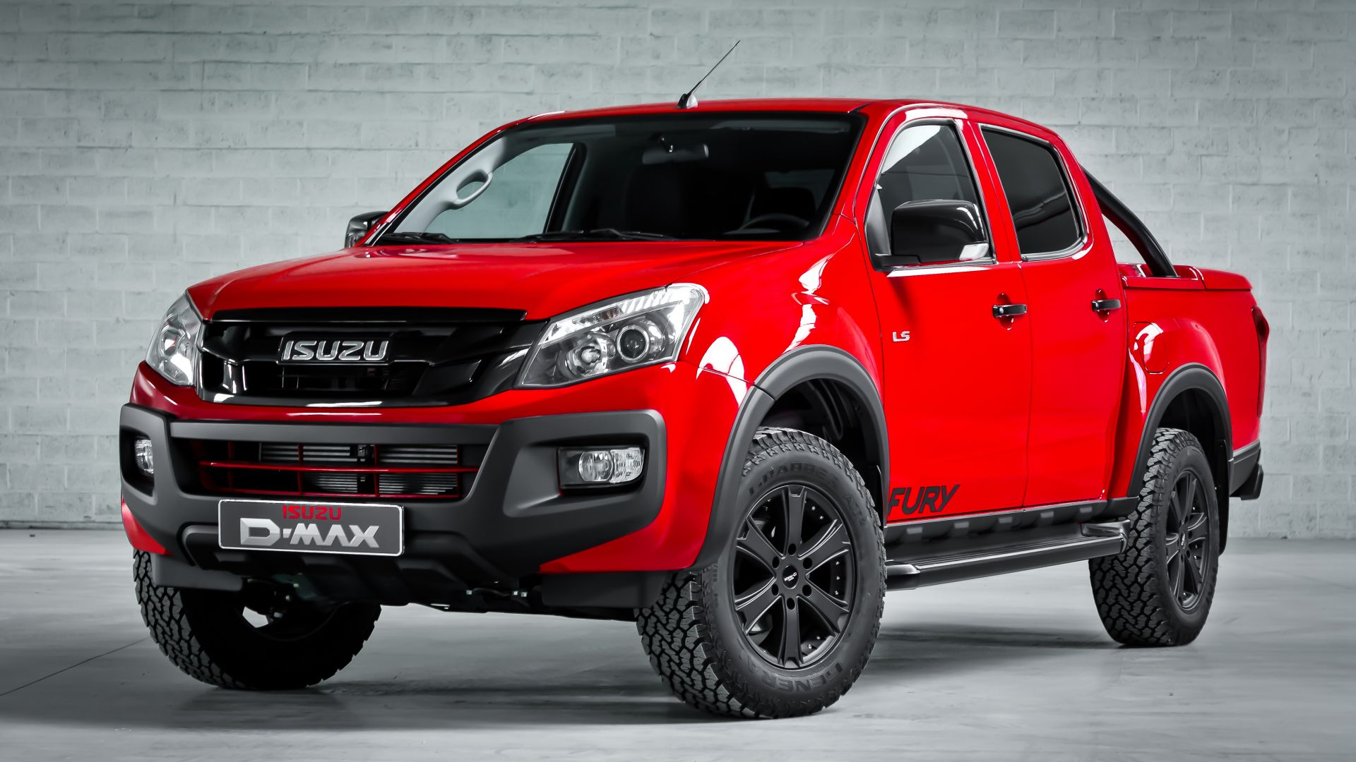 "Wallpaper Isuzu D-Max ""Fury"" Double Cab, pick-up, red ..."