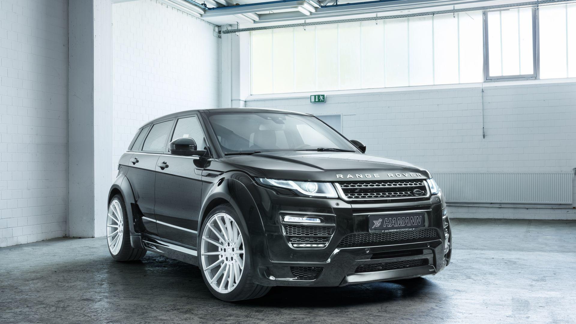 wallpaper range rover evoque hamann black cars bikes 11345. Black Bedroom Furniture Sets. Home Design Ideas