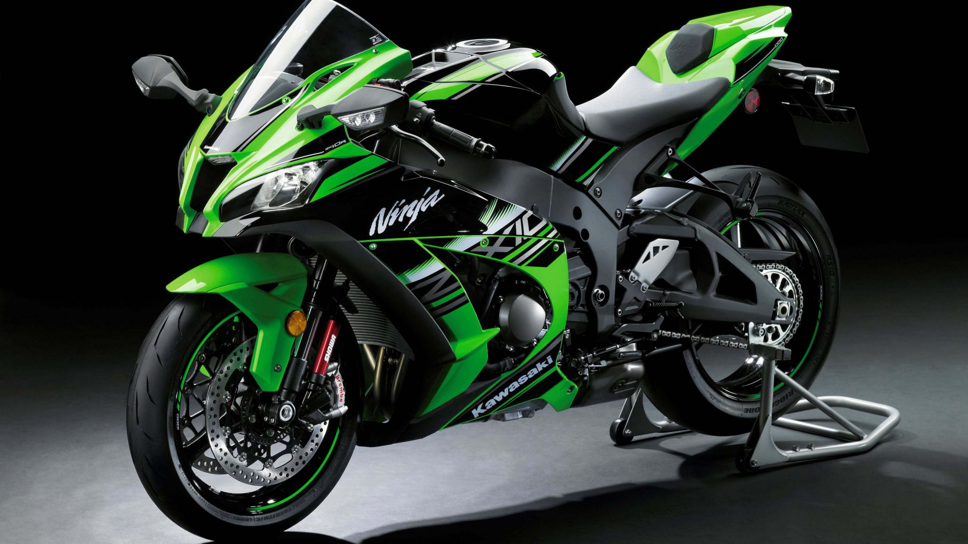Kawasaki ZX-10R, Intermot 2016, WorldSBK, green, best bikes (horizontal)