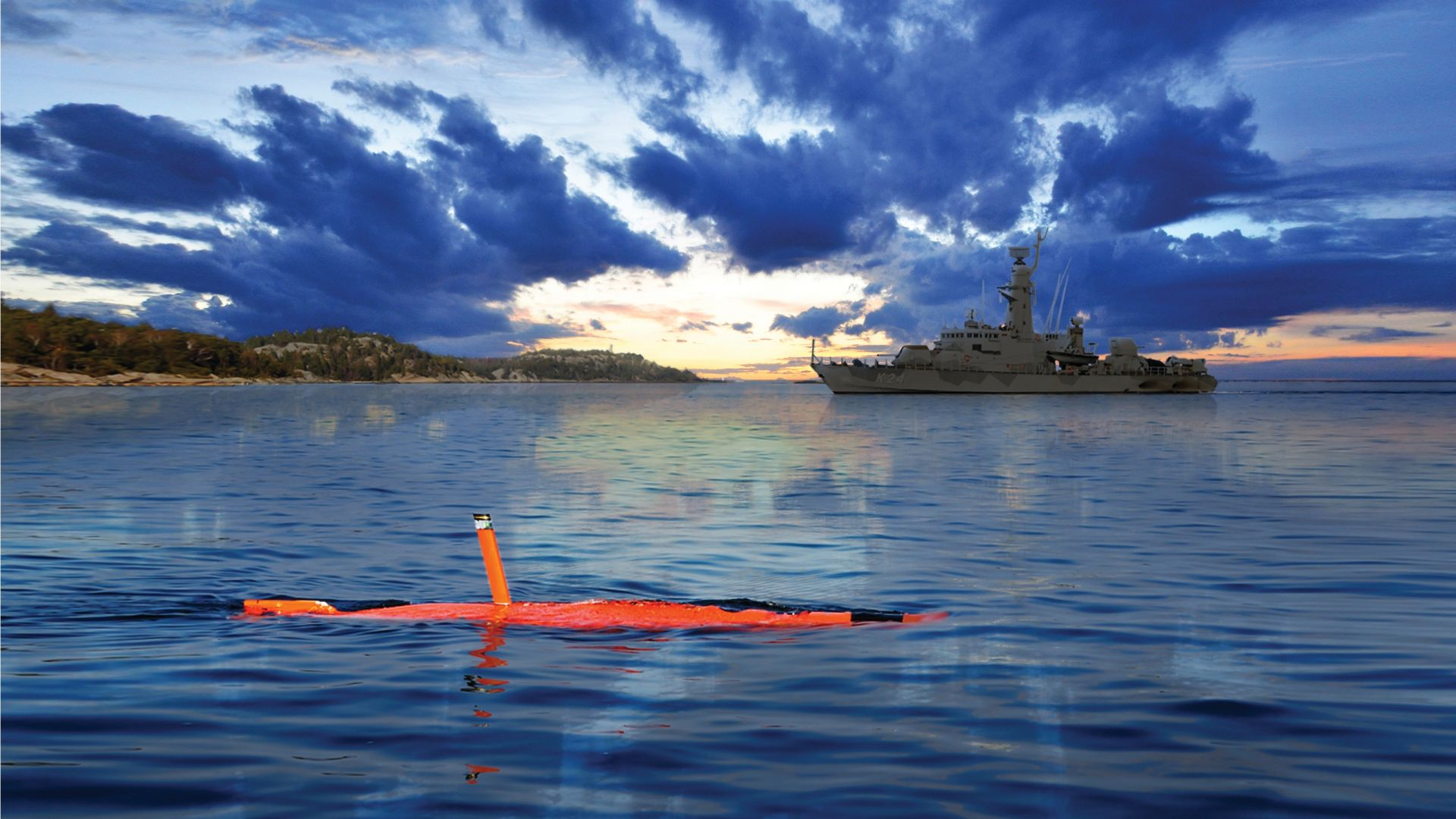 Saab AUV62-AT, drone, submarine, Unmanned Warrior 2016, Swedish Navy, Swedish Army (horizontal)
