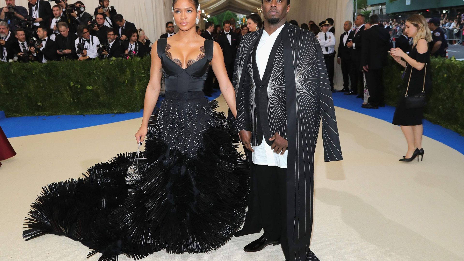 P Diddy, Met Gala 2017, dress, red carpet (horizontal)