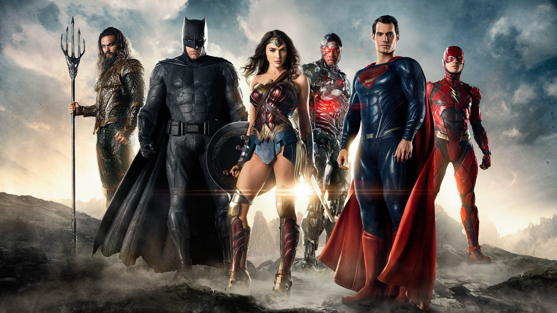 wallpaper justice league movie batman wonder woman 4k