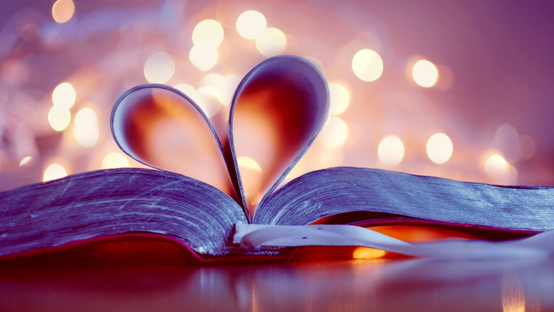 love image, heart, book, 4k (horizontal)