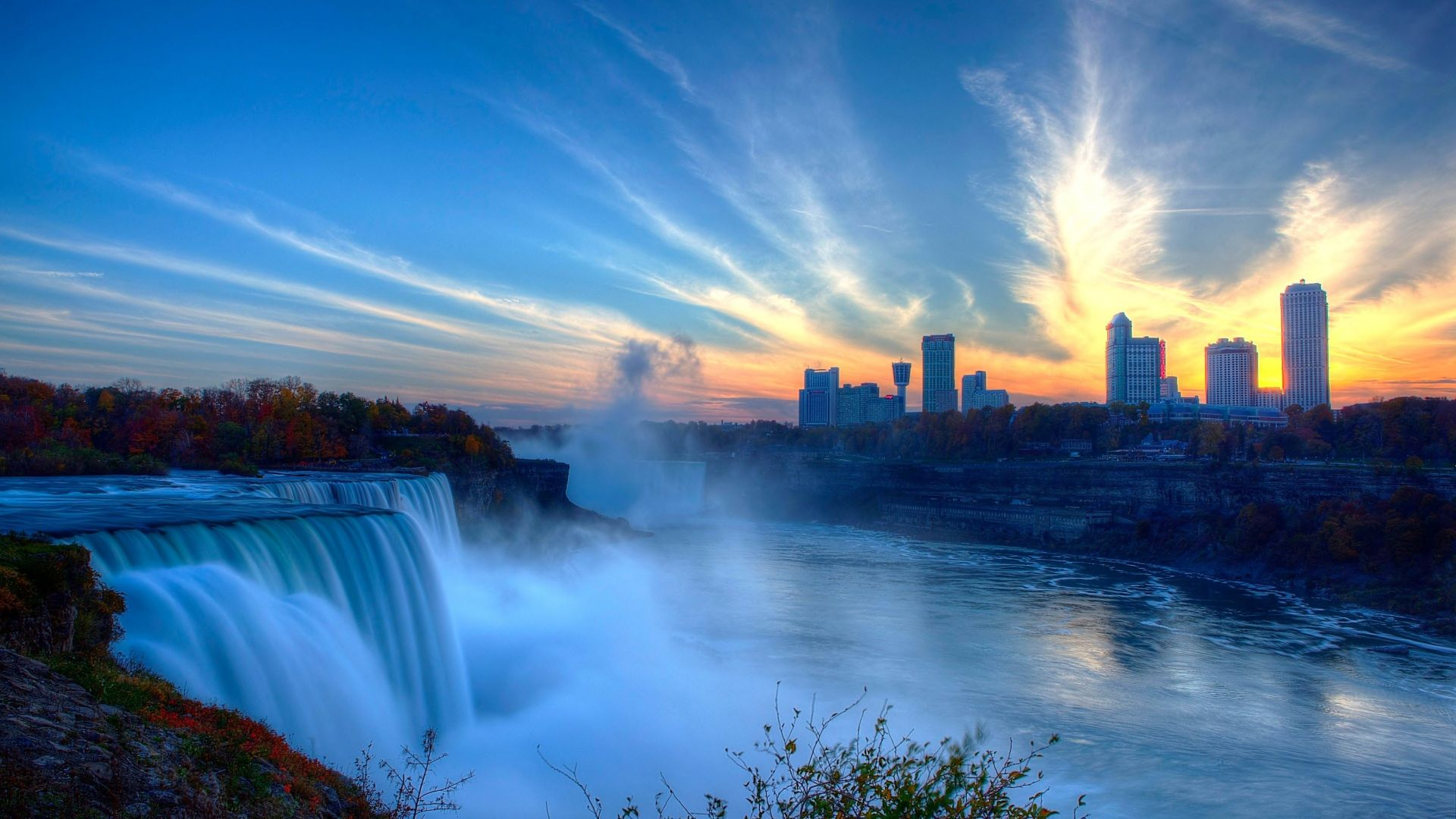 Niagara Falls, waterfall, New York, USA, 4k (horizontal)
