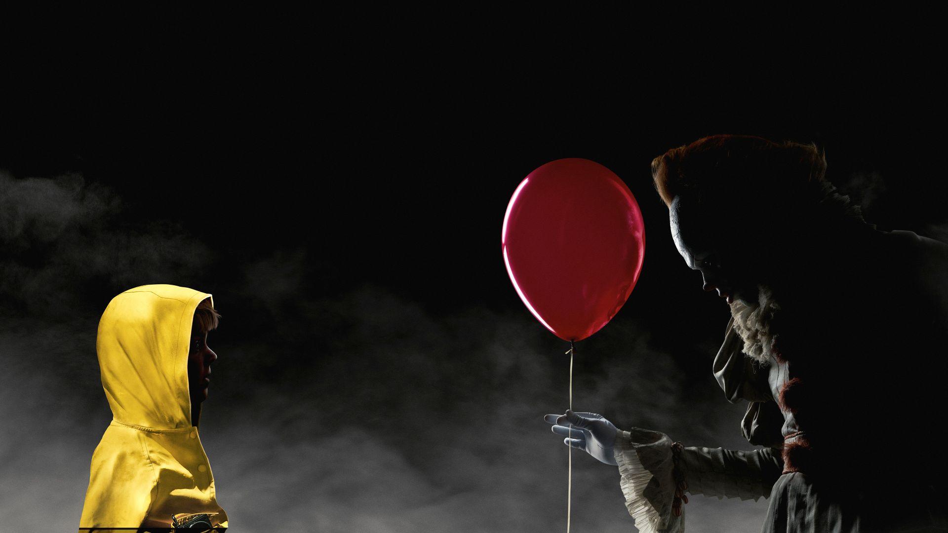 Wallpaper It Clown Bill Skarsgard Horror 2017 Hd: Wallpaper It, Bill Skarsgard, Scary Clown, 4k, Movies #15212