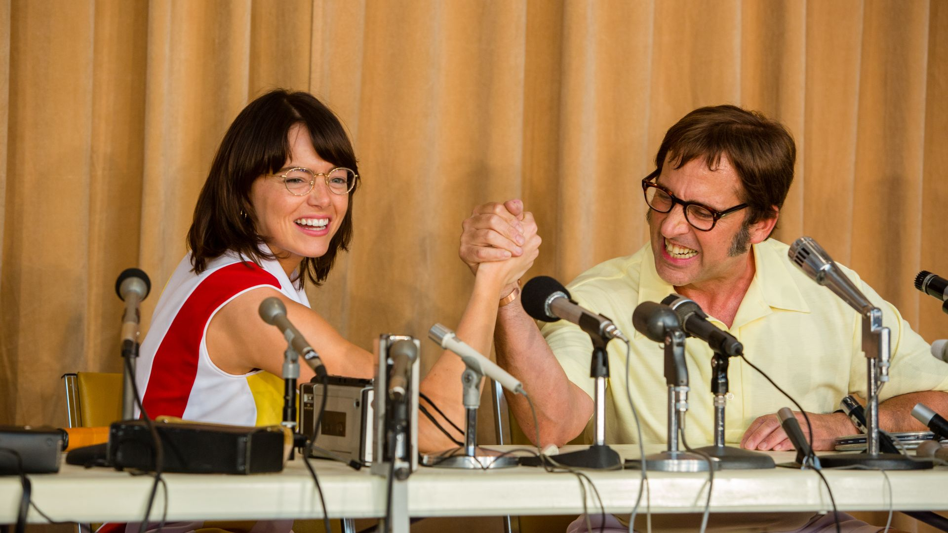 Wallpaper Battle of the Sexes, Emma Stone, Steve Carell ... Emma Stone And Ryan Gosling