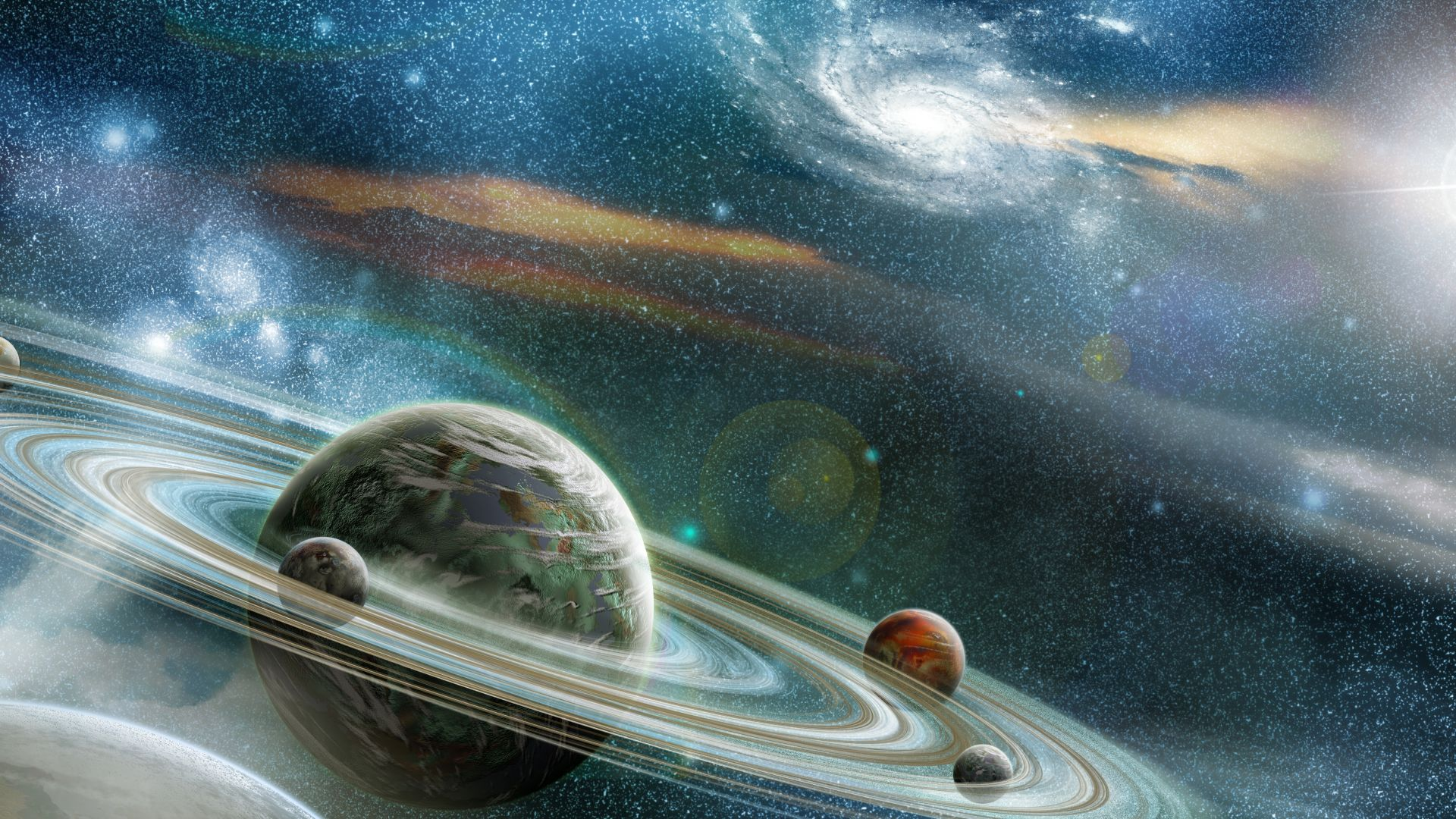 galaxy saturn planet stars - photo #17