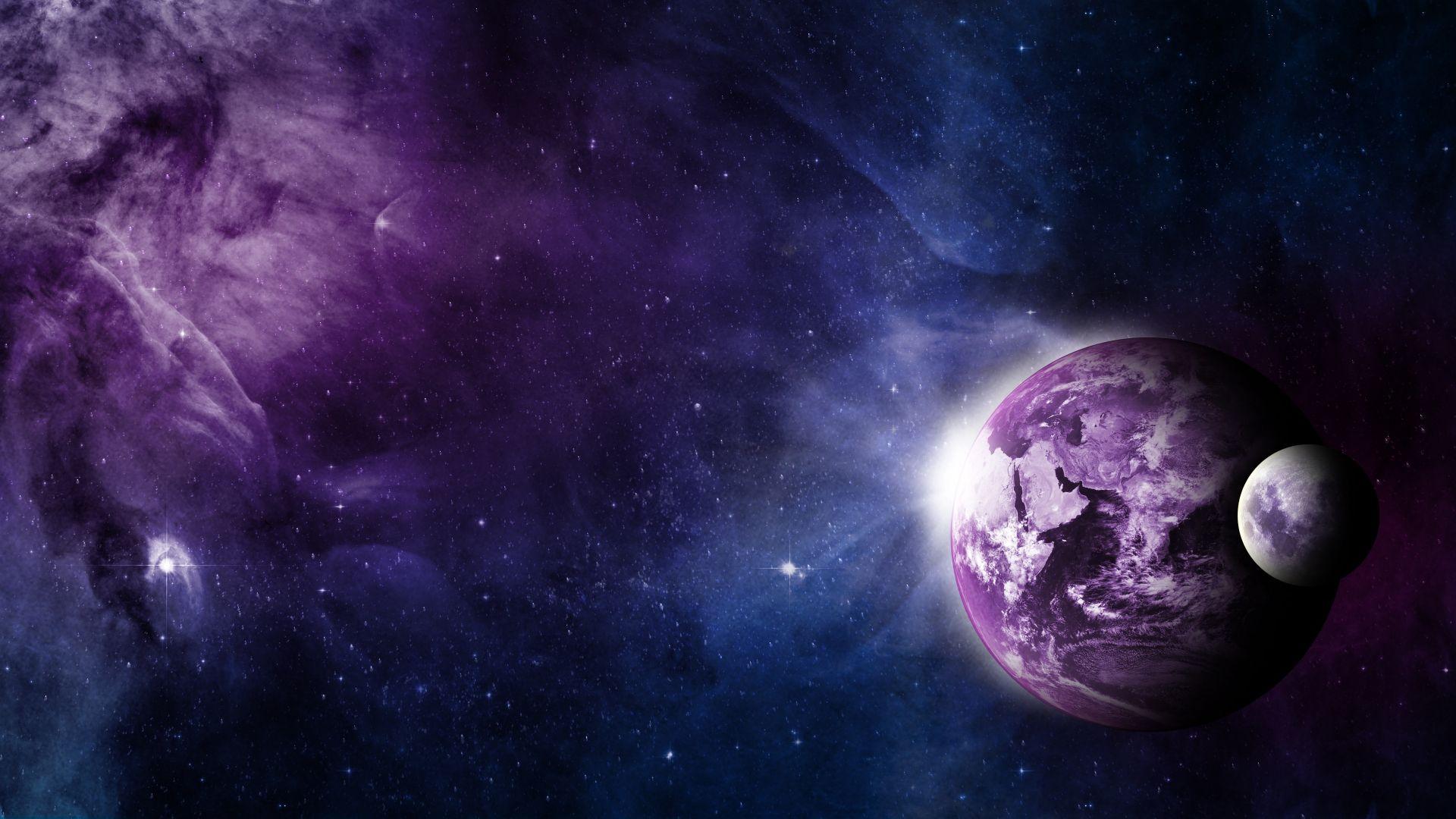Wallpaper space, galaxy, planet, 4k, Space #17065