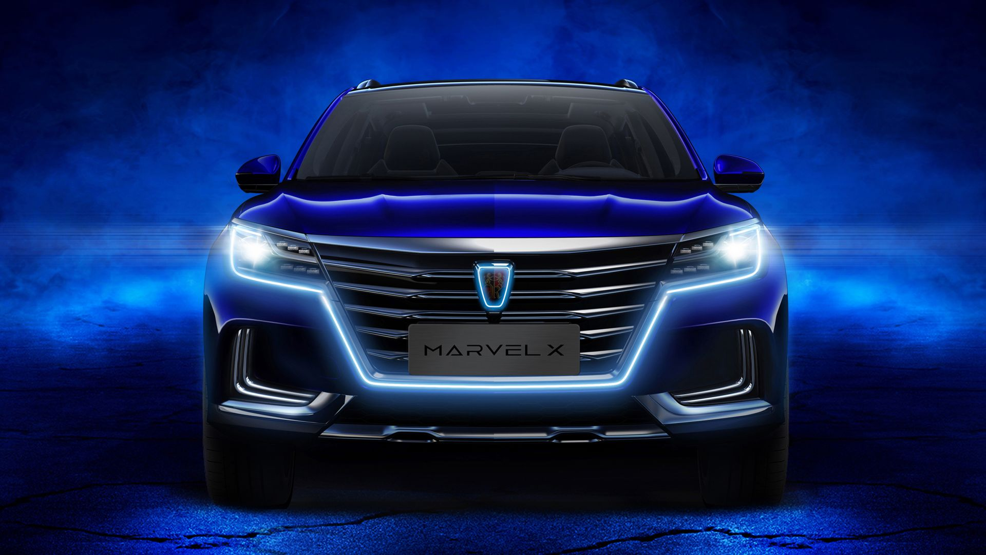 Wallpaper Roewe Marvel X, Crossover, 2018 Cars, Dark Blue