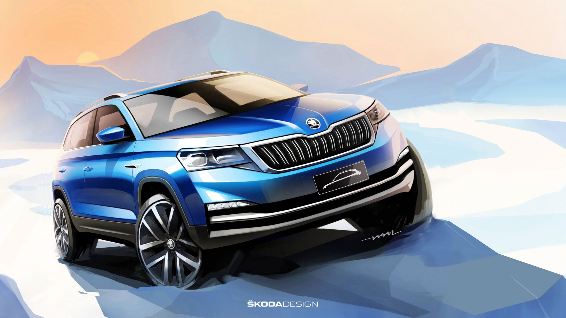 wallpaper skoda kodiaq poster 2019 cars suv 4k cars bikes 18121. Black Bedroom Furniture Sets. Home Design Ideas