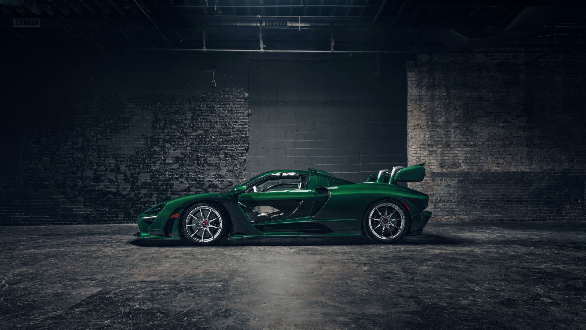 Wallpaper McLaren Senna GTR Green Carbon, supercar, 2018 ...