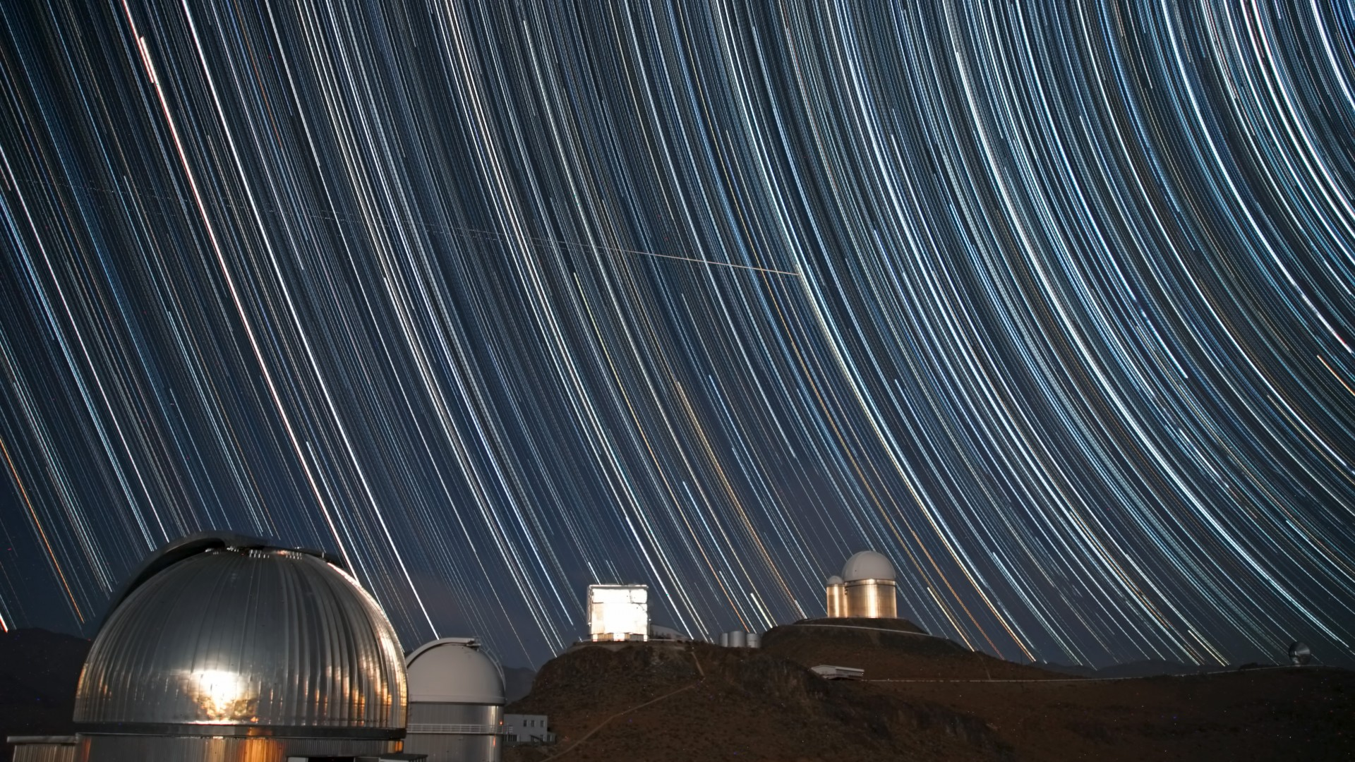 sky, exposure, observatory, astronomy, photo, stars, night (horizontal)