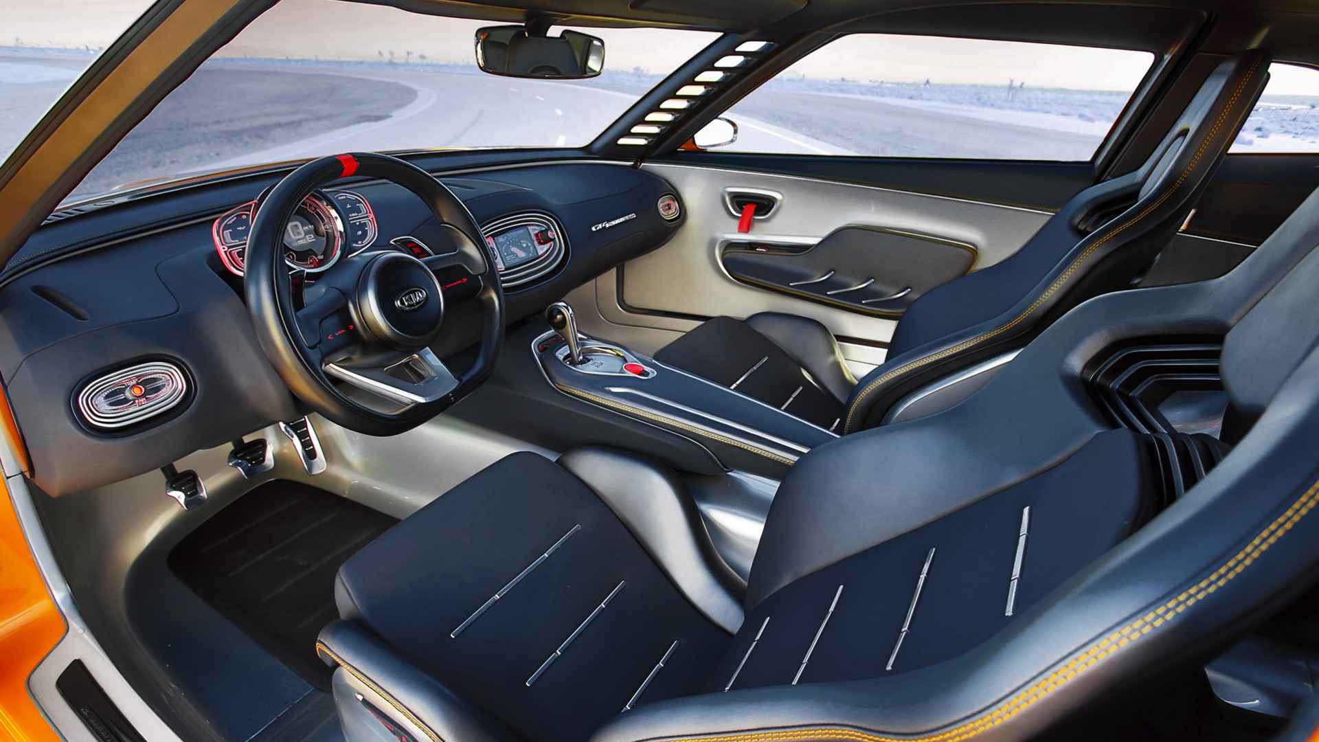 wallpaper kia gt4 stinger concept supercar luxury cars sports car yellow interior review. Black Bedroom Furniture Sets. Home Design Ideas