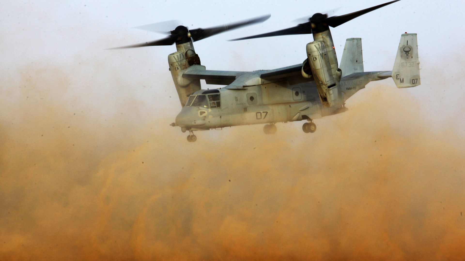 V-22 Osprey, Osprey, Bell, Boeing, tiltrotor, multi-mission aircraft, desert, US Army, U.S. Air Force (horizontal)