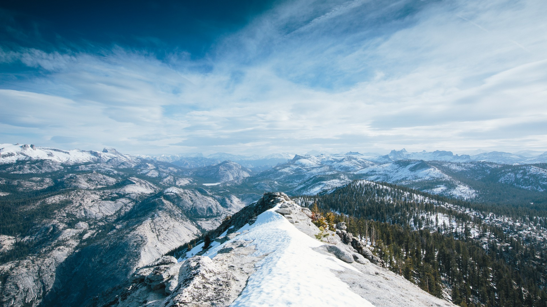 Yosemite, 5k wallpapers, winter, snow, forest, OSX, apple, mountains