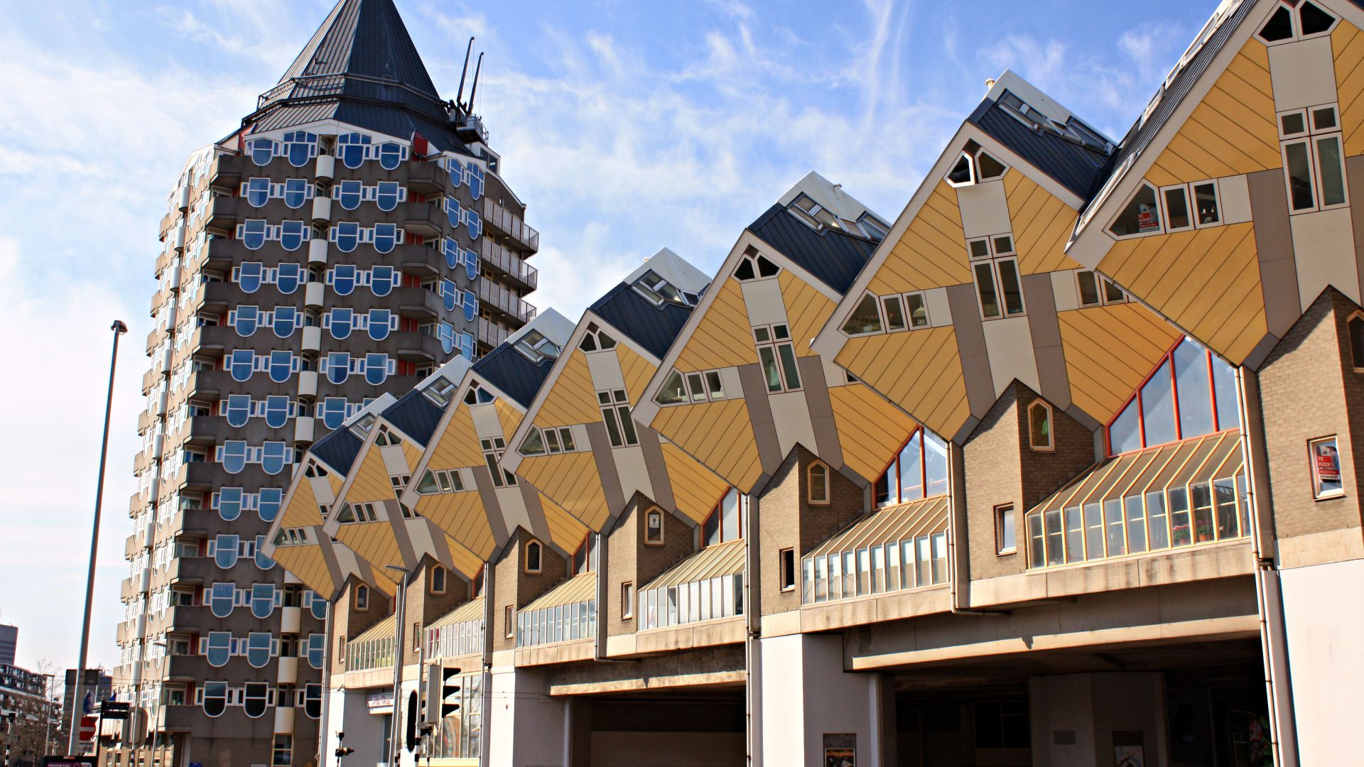 Wallpaper rotterdam cube houses travel architecture 5052 for Architecture rotterdam