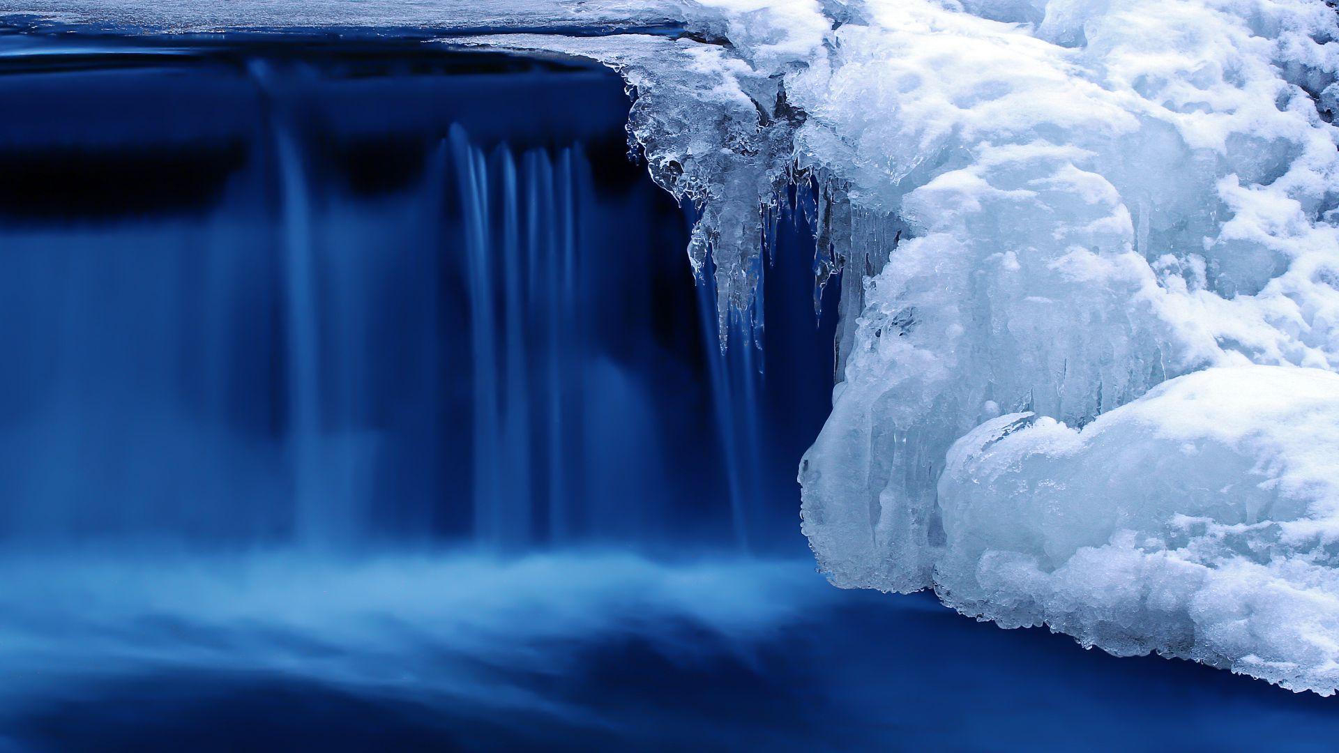 Lake 4k HD Wallpaper Waterfall Water Snow Ice Horizontal