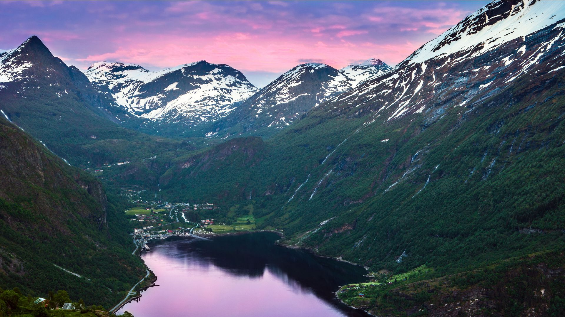 Norway, 5k, 4k wallpaper, fjord, mountains, river, sky (horizontal)