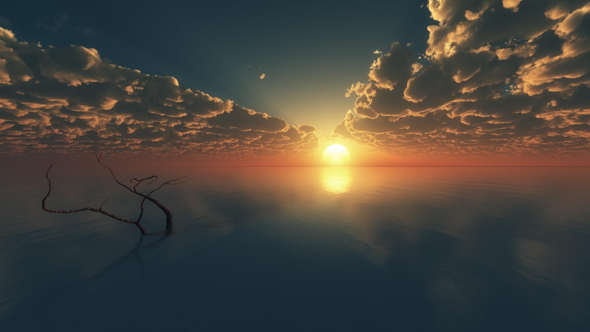 Wallpaper Sky, 4k, HD wallpaper, clouds, sunset, sunrise ...