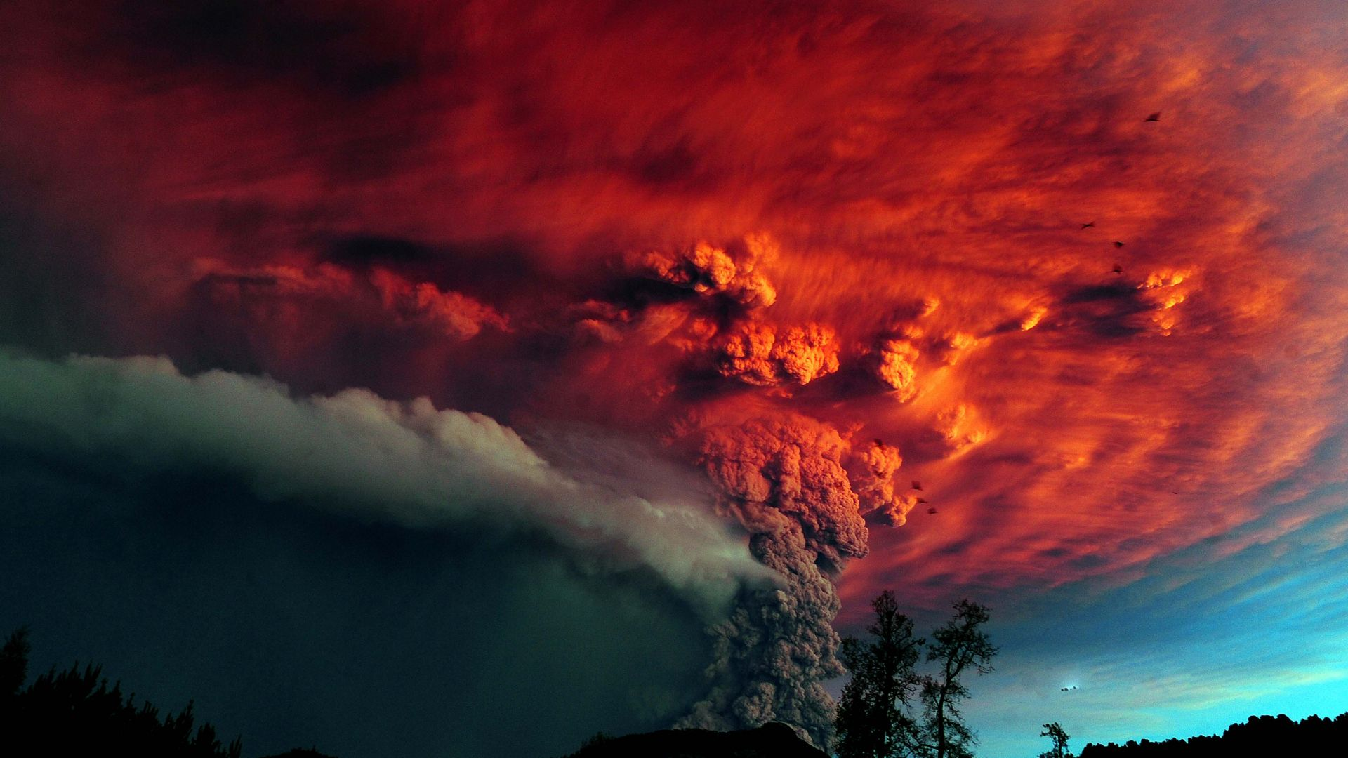 Puyehue, Chile, Erupting, Volcano