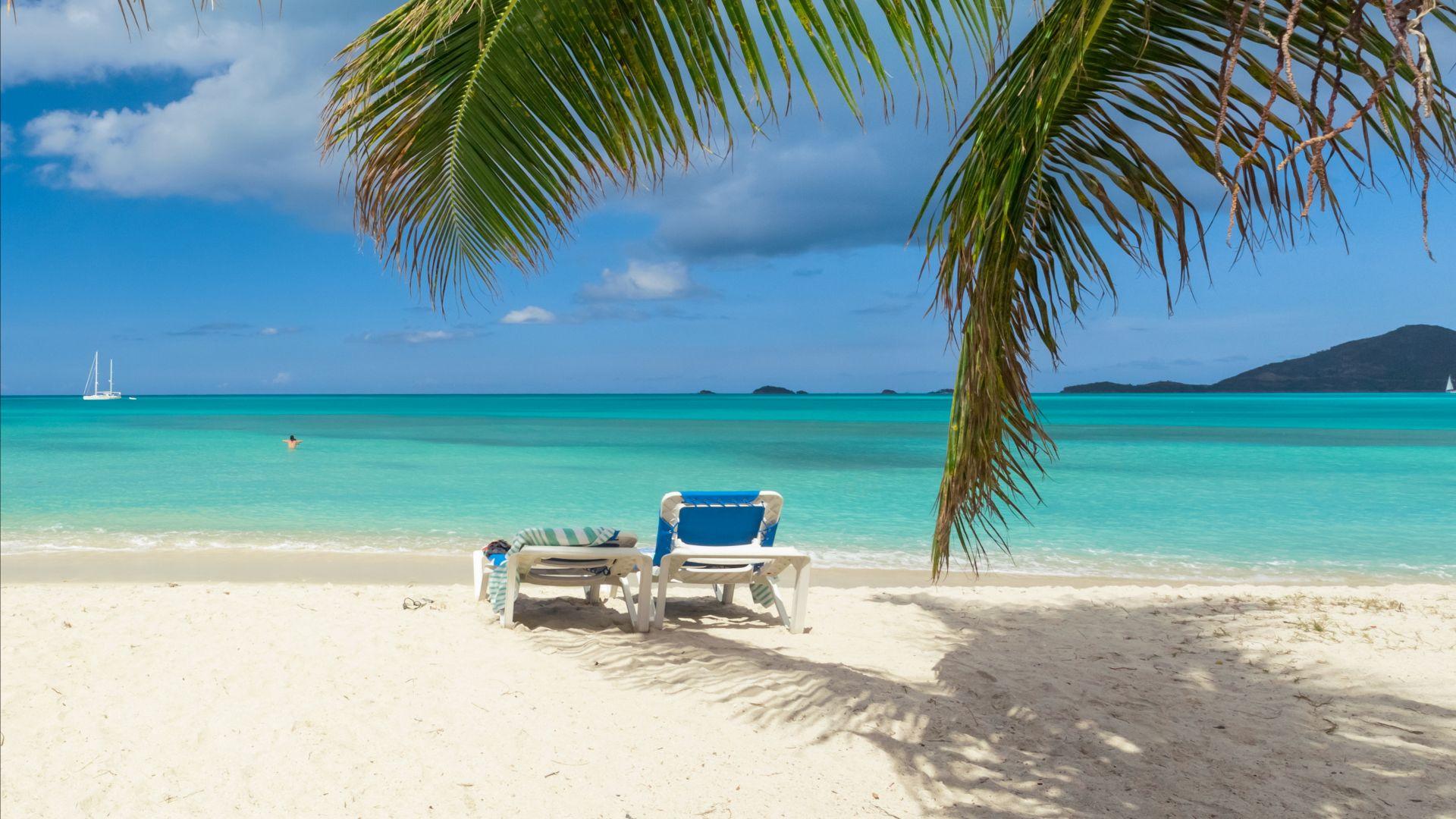 Wallpaper Thailand, Beach, Sea, Shore, Sand, Palms, Travel