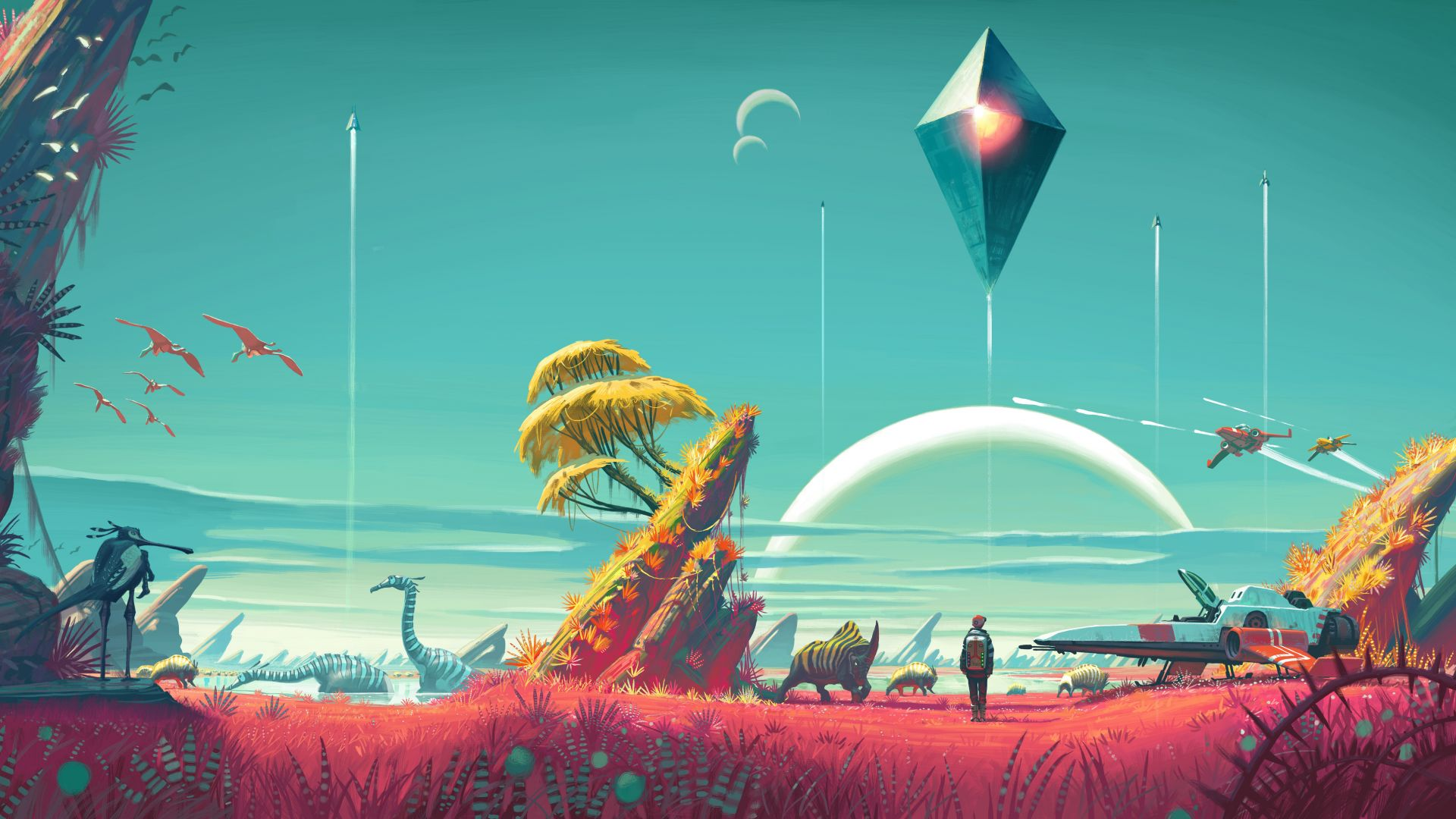 No Man's Sky, 4k, 5k wallpaper, Best Games 2015, game, sci-fi, space, fantasy, PC, PS4