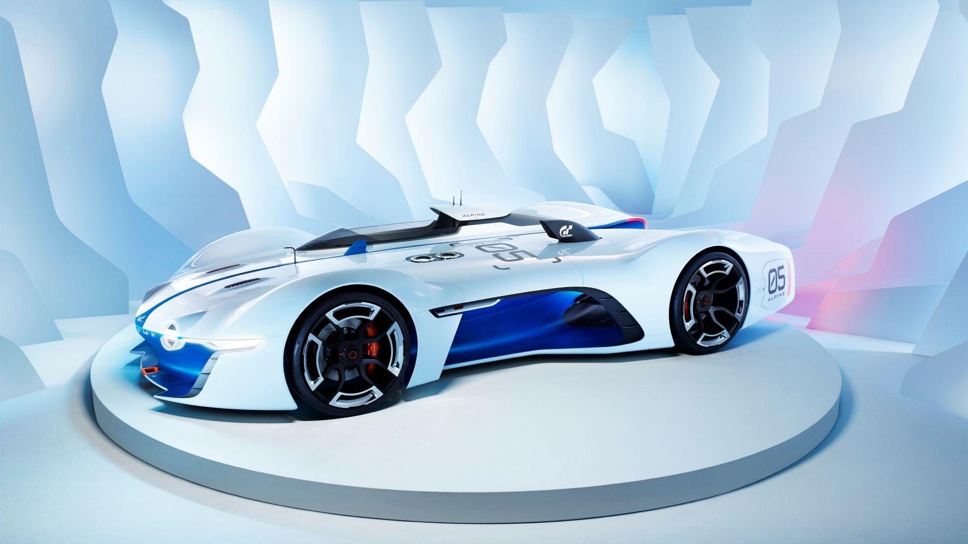 Wallpaper Renault Alpine Vision Gran Turismo Gran
