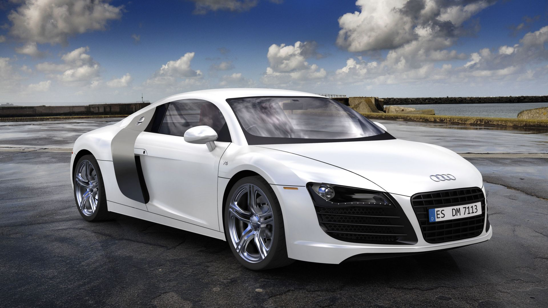 Cars Audi Roads R8 White V10 Wallpaper Allwallpaper In: Wallpaper Audi R8, Sport Car, Coupe, Review, Buy, Rent