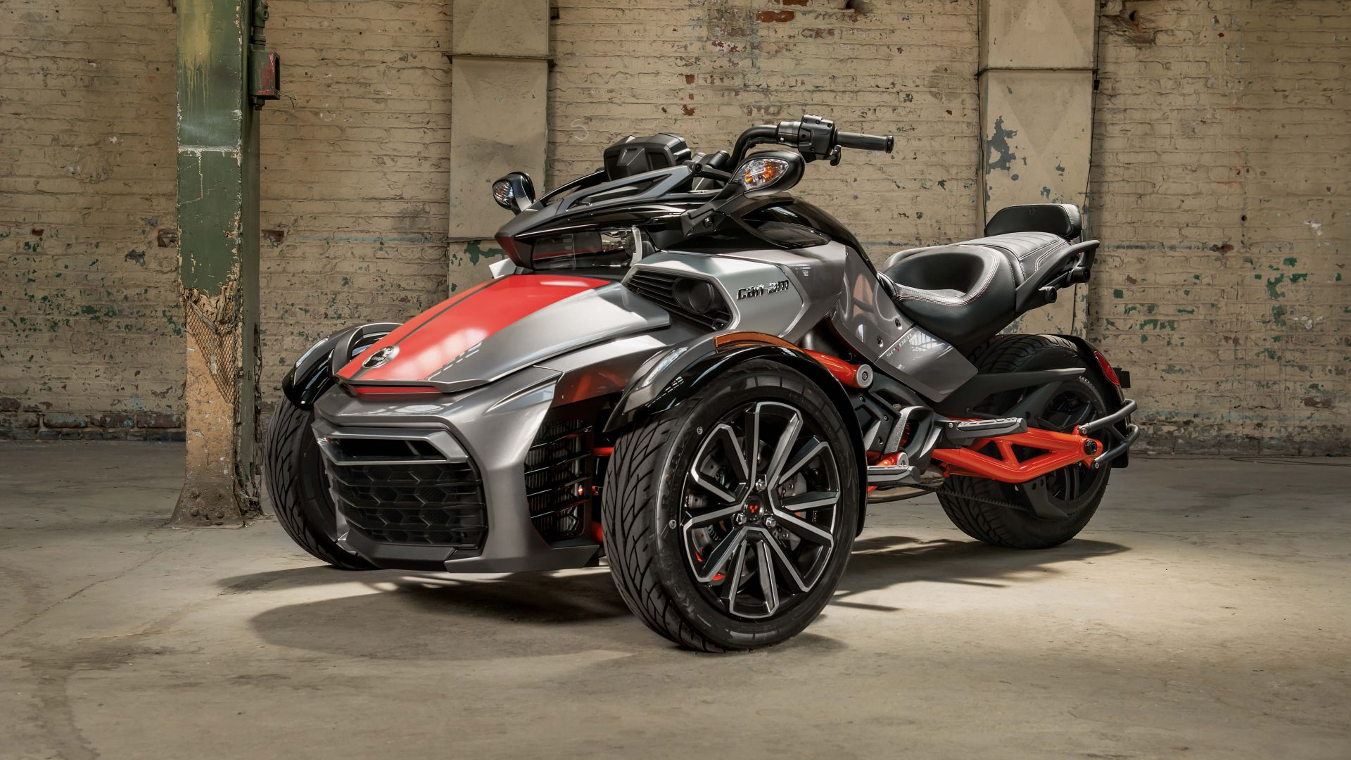wallpaper can am spyder f3 t concept tricycle cars bikes 7625. Black Bedroom Furniture Sets. Home Design Ideas