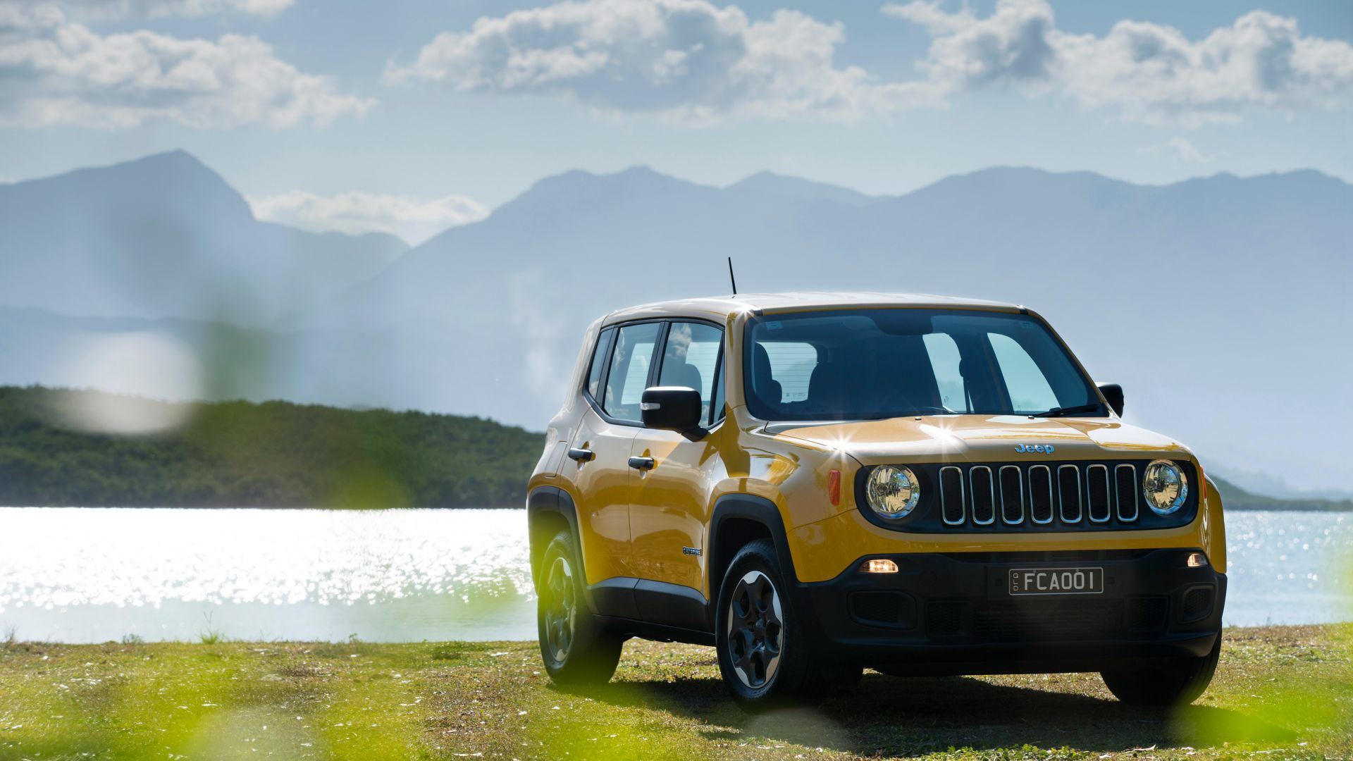 Wallpaper Jeep Renegade Sport Yellow Suv Cars Bikes