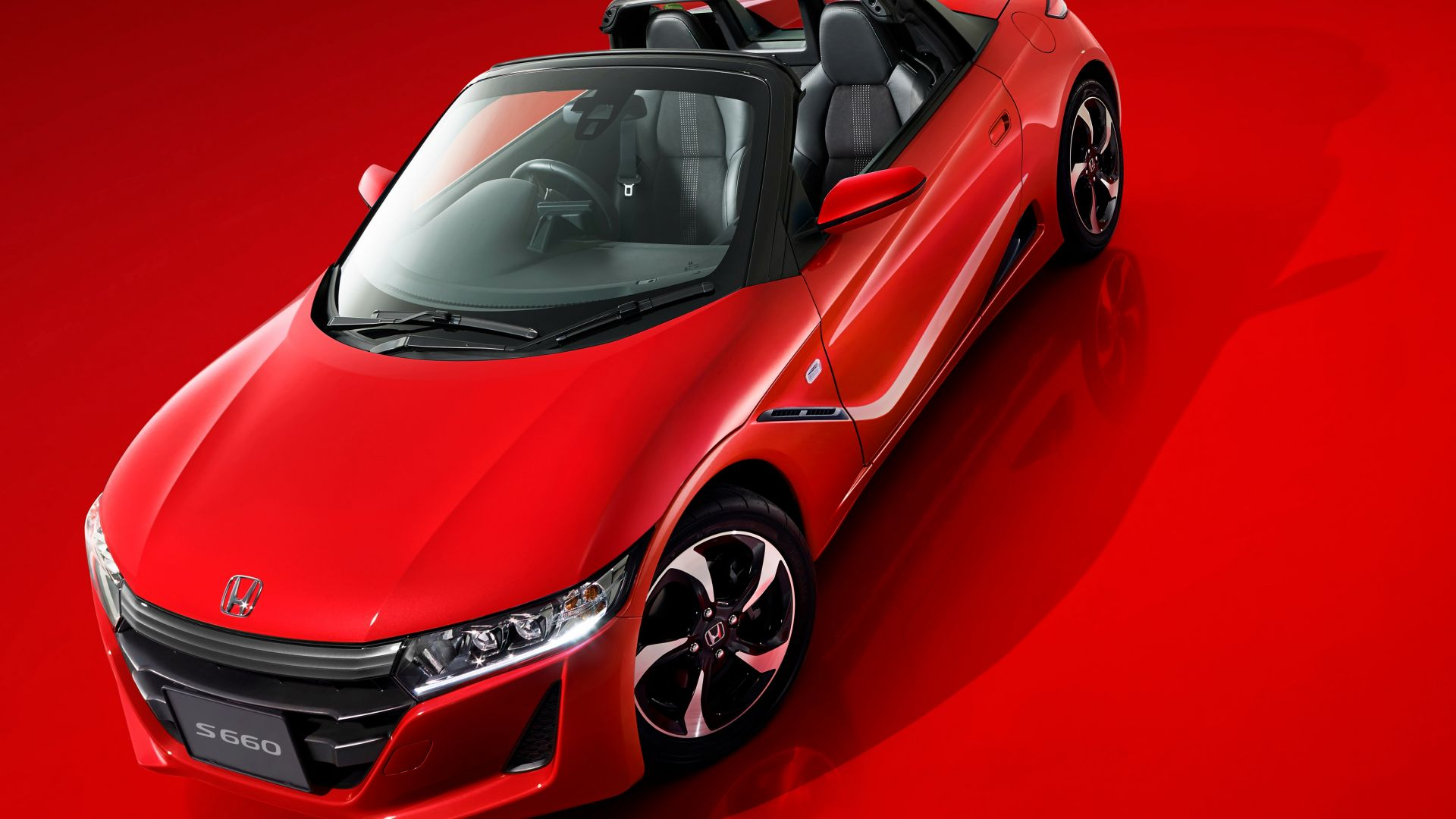 Wallpaper honda s660 concept red future car tokyo for Future honda cars