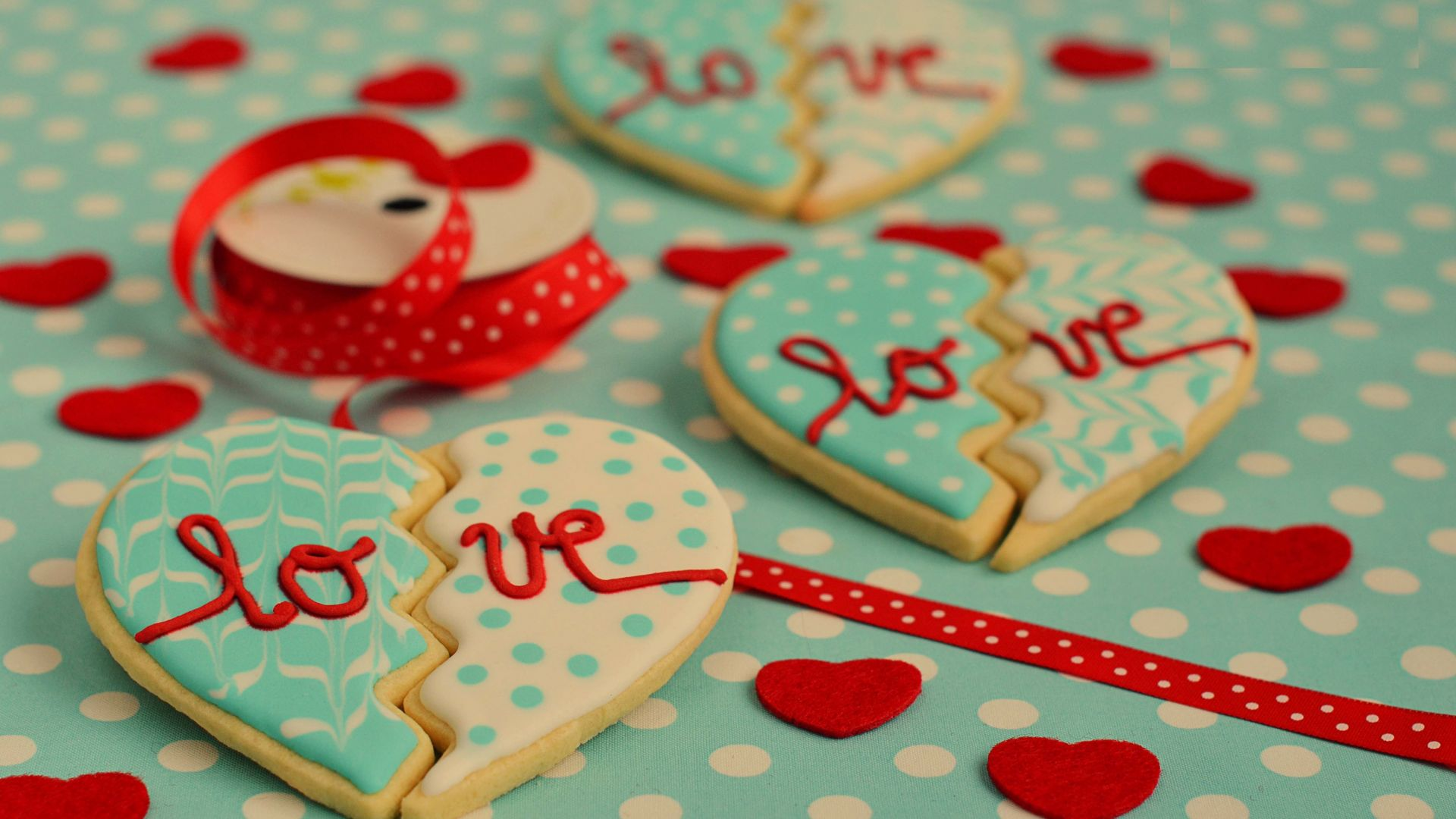 Valentine's Day, cookies, heart, love (horizontal)