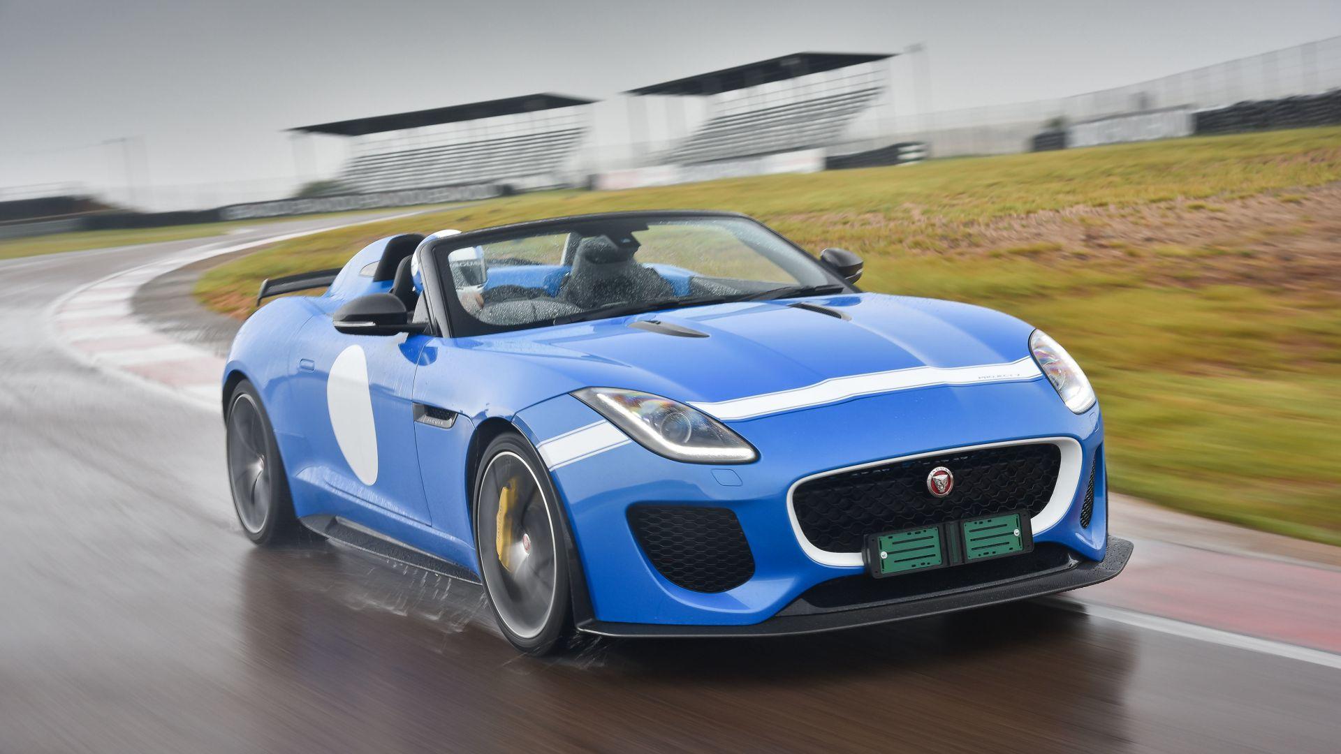 Wallpaper Jaguar F Type Project 7 Roadster Za Spec Blue