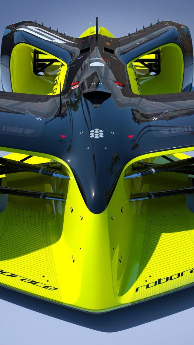 Wallpaper Roborace Future Cars Hybrid Formula E Season