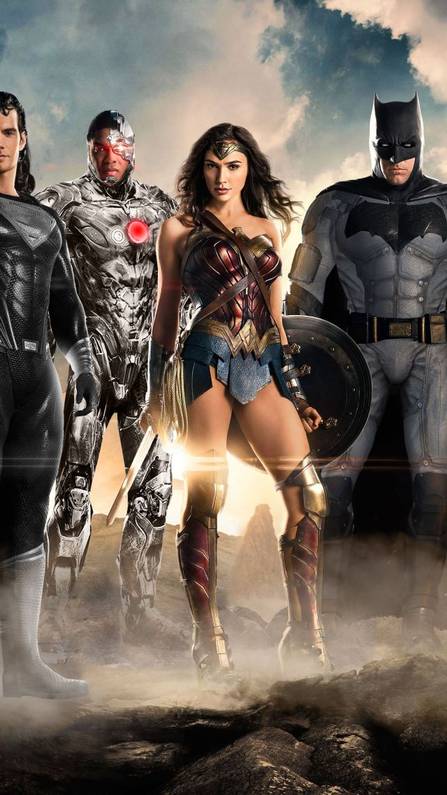 Justice League, superman, batman, Wonder woman, superhero (vertical)