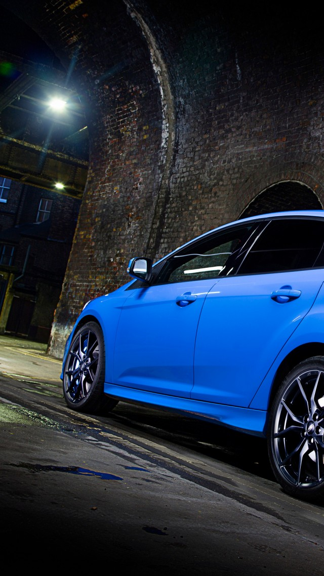 Wallpaper Ford Focus Rs Hatchback Blue Night Cars Bikes 10175