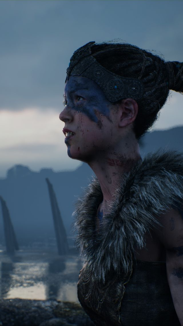 Hellblade: Senua's Sacrifice, Best games, fantasy, PC, PS4, game (vertical)