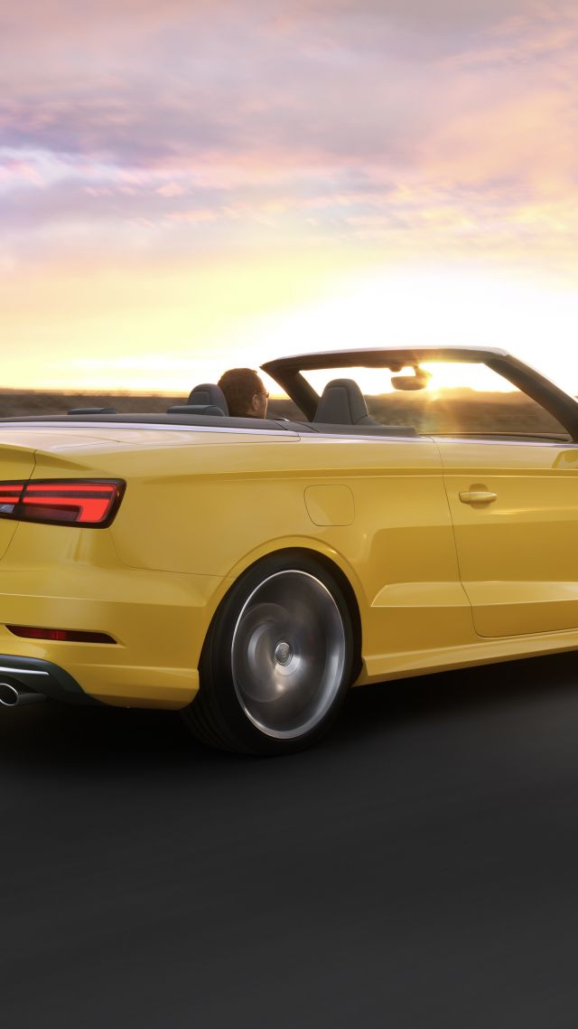 Wallpaper Audi S3, cabriolet, yellow, Cars & Bikes #10263