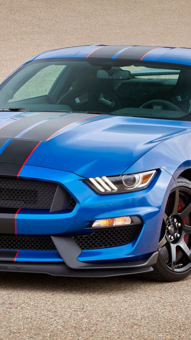 Wallpaper Mustang Shelby Gt350 Hardsedan Muscle Car Blue Cars