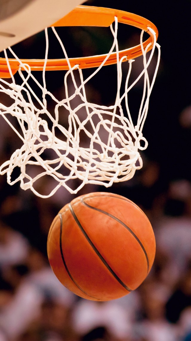 Wallpaper NBA, basketball, the ball in the basket, Sport ...