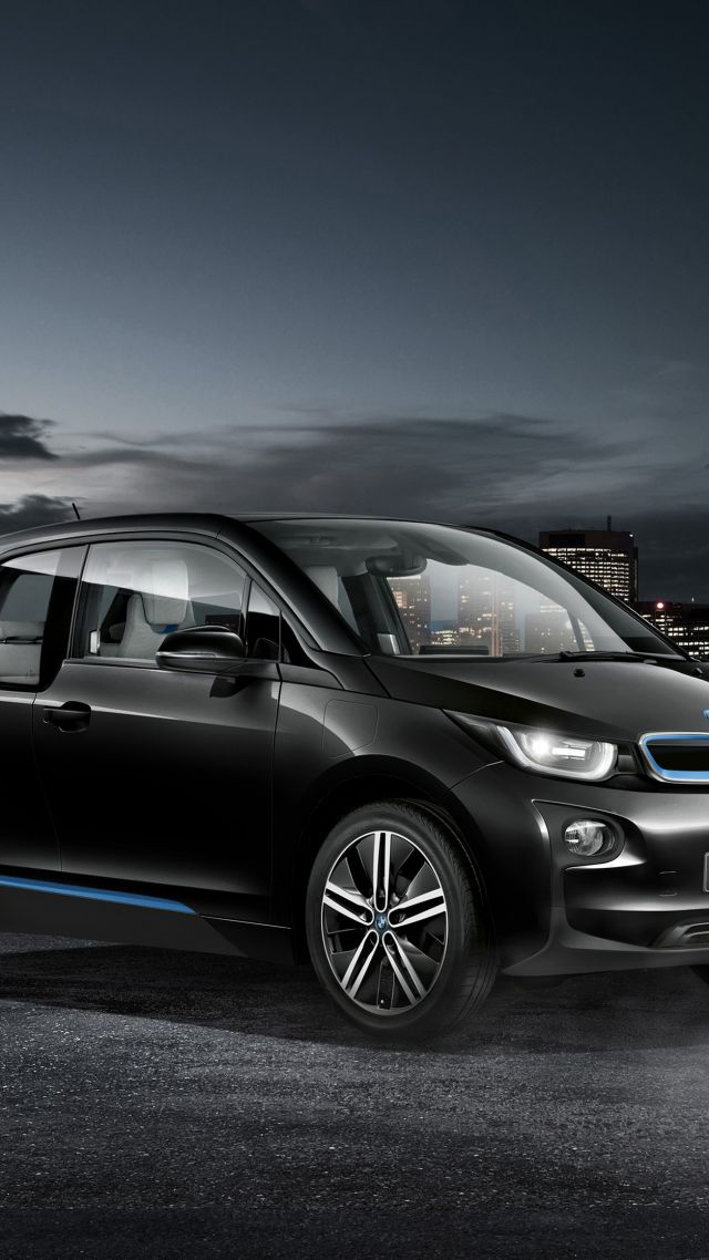 "BMW i3 ""Carbonight"", electric cars, city cars, black (vertical)"