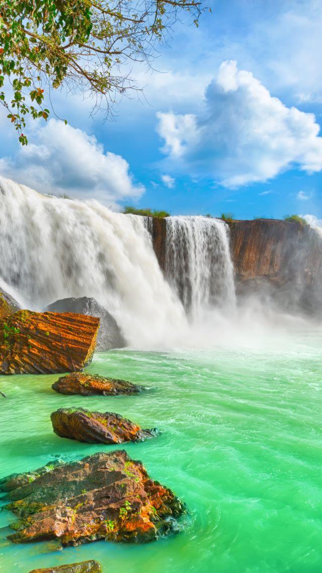 Wallpaper Waterfall 4k Hd Wallpaper Beautiful Dry Nur Vietnam