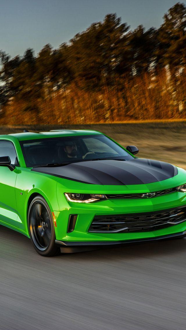Wallpaper Chevrolet Camaro LT1 LE, NYIAS 2016, green, Cars ...