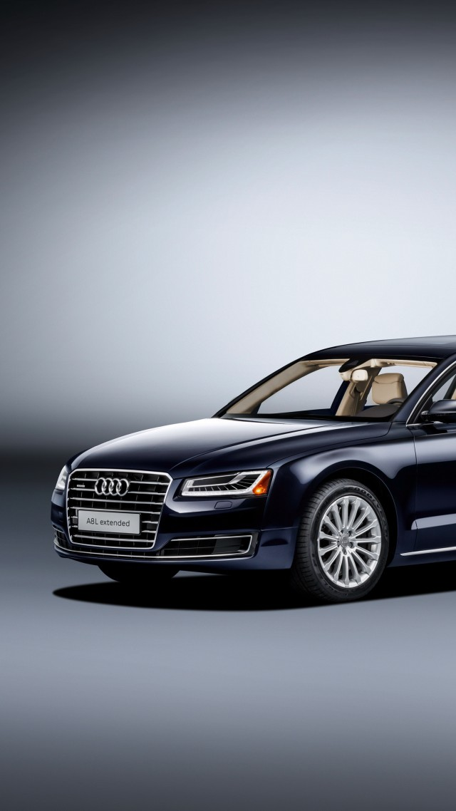 Audi A8 L Extende, luxury cars, limuzin (vertical)