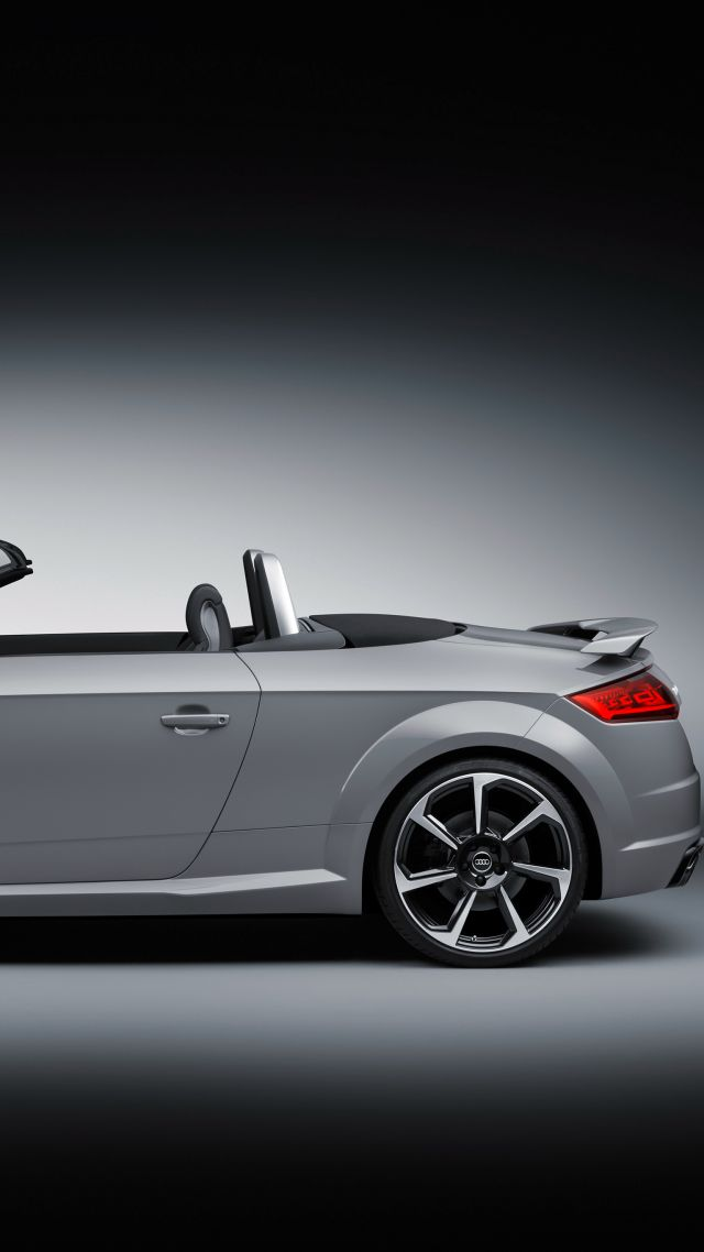 Audi TT RS, Roadster (8S), Beijing Motor Show 2016, Auto China 2016, silver (vertical)