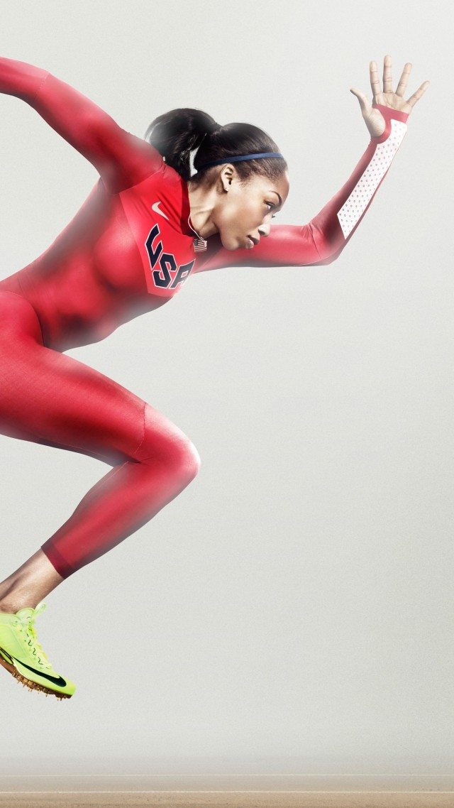 Wallpaper Allyson Felix, nike, running, athlete, women ...